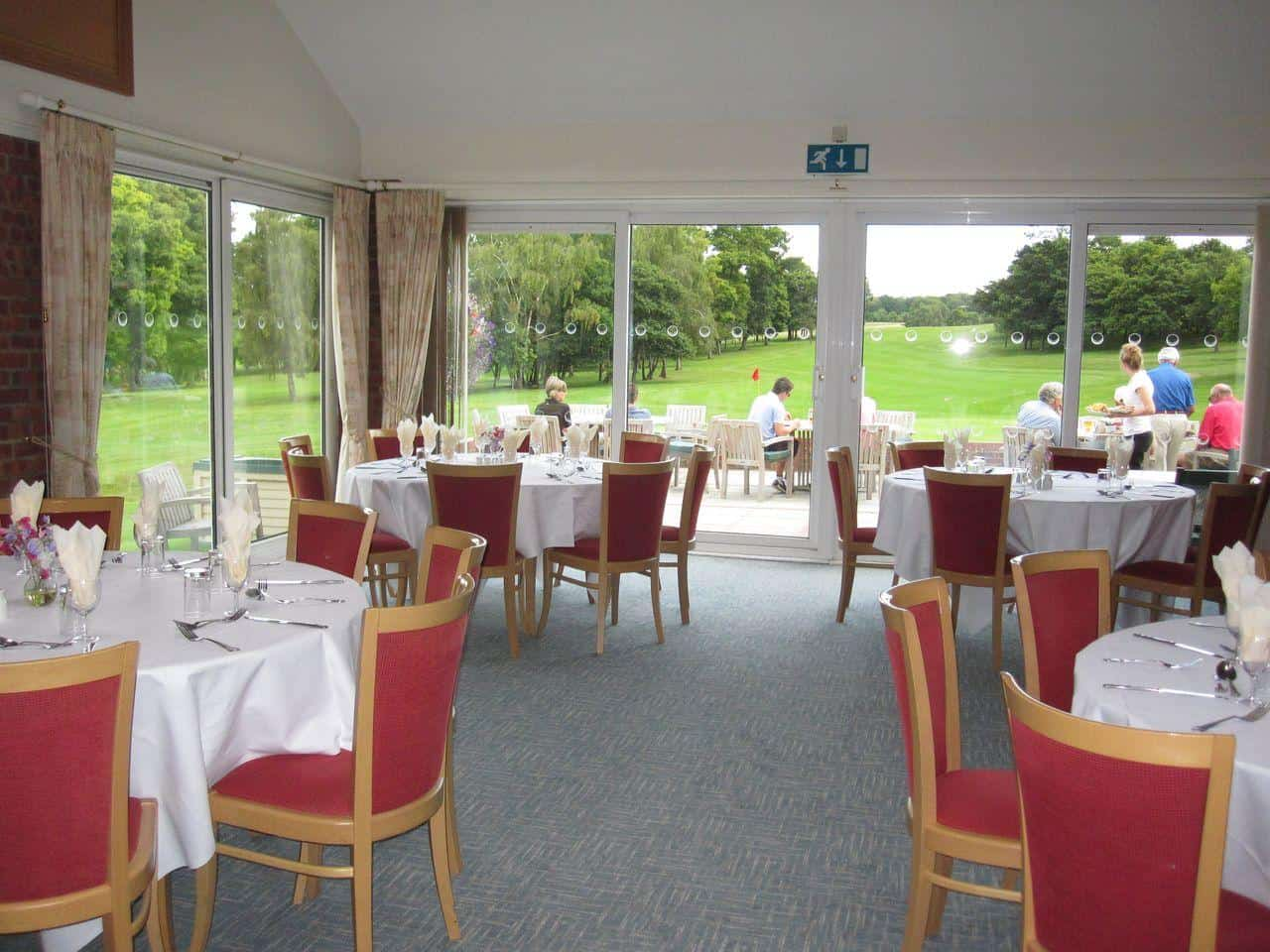 Restaurant with View to 18th Green and Fairway