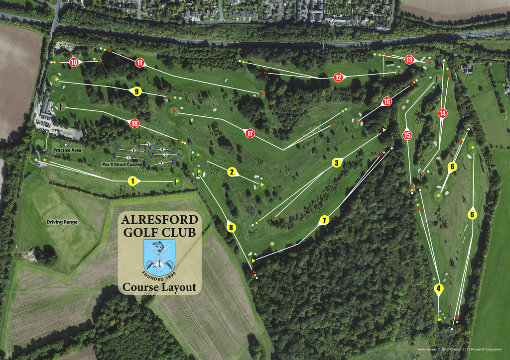 Alresford Golf Course Layout